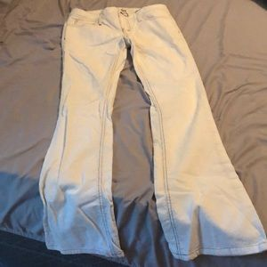 Corduroy off white pants